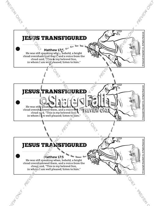Matthew 17 The Transfiguration Bible Bookmarks