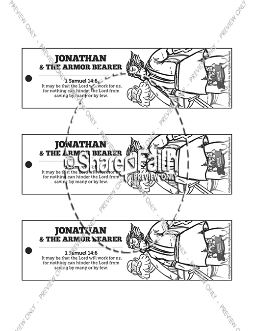 Jonathan And His Armor Bearer Bible Bookmarks