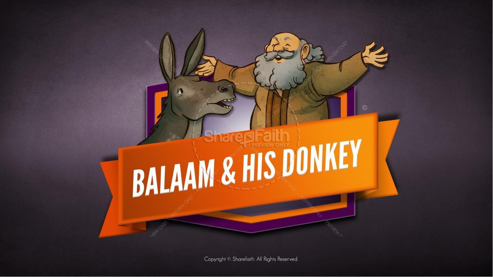 Numbers 22 Balaam's Donkey Kids Bible Stories | slide 1
