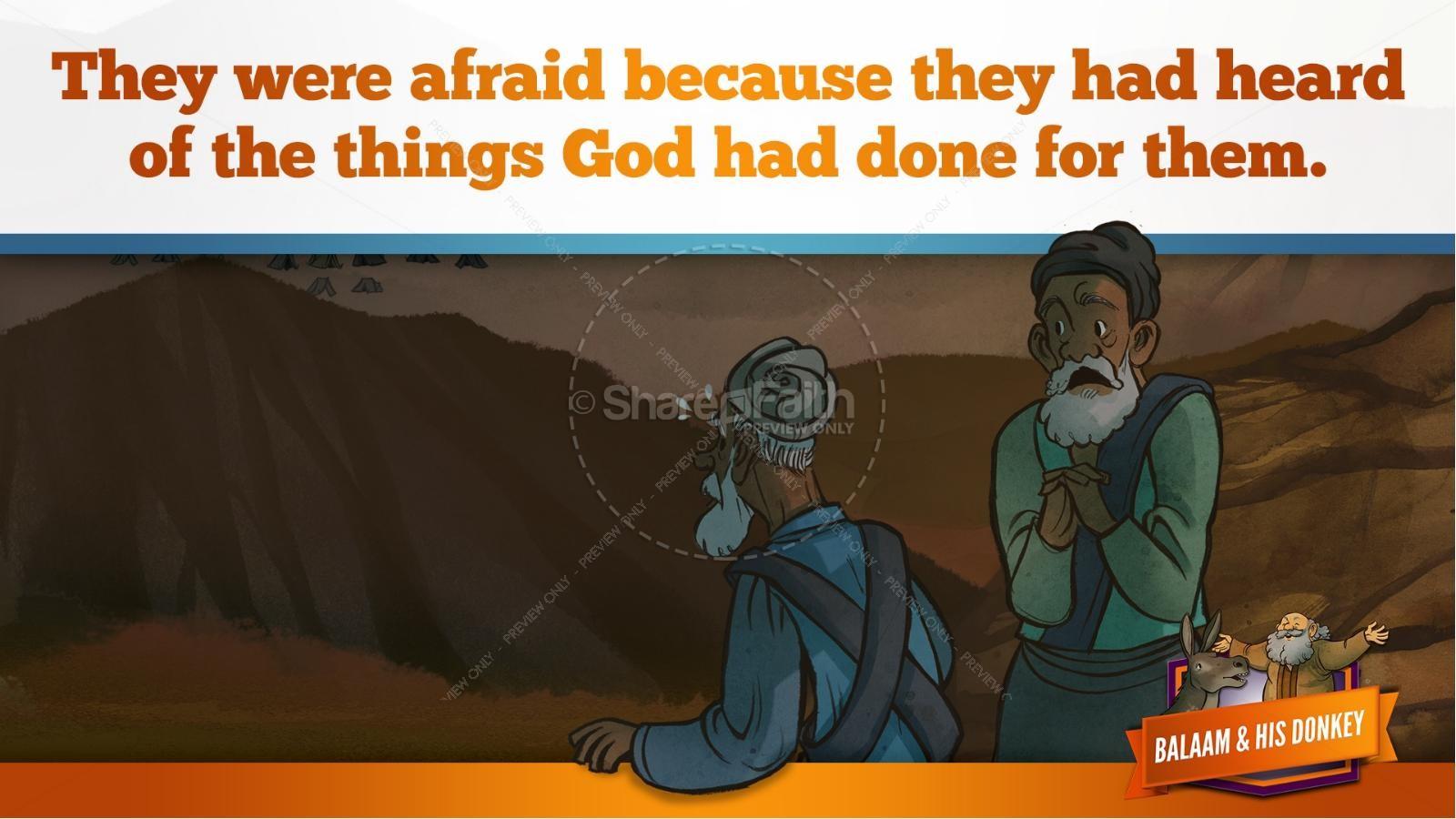 Numbers 22 Balaam's Donkey Kids Bible Stories   slide 12