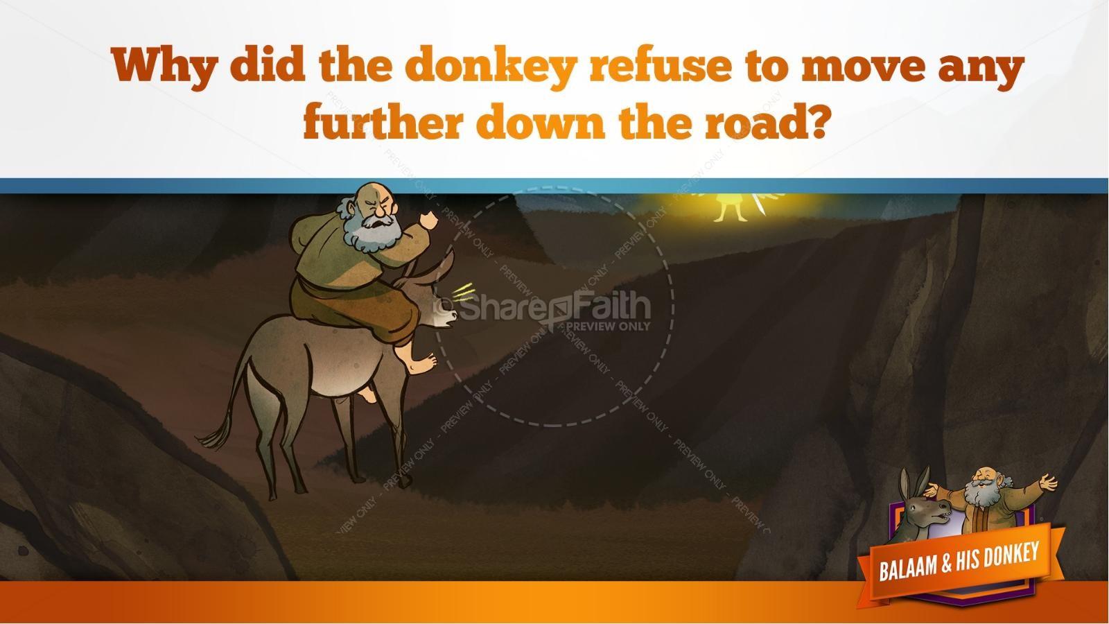 Numbers 22 Balaam's Donkey Kids Bible Stories   slide 23