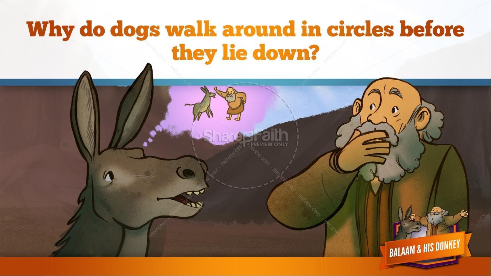 Numbers 22 Balaam's Donkey Kids Bible Stories   slide 29