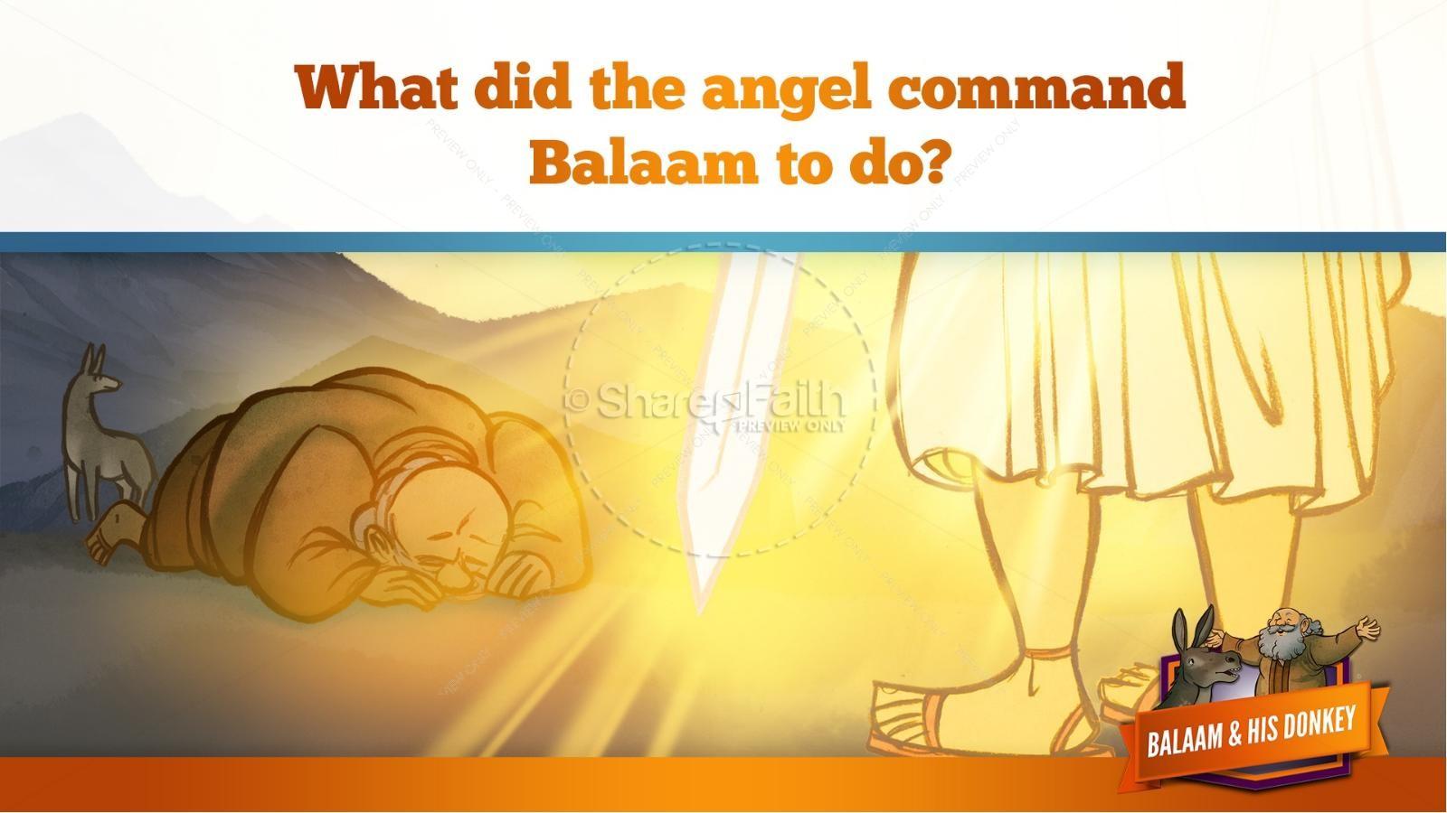 Numbers 22 Balaam's Donkey Kids Bible Stories   slide 31