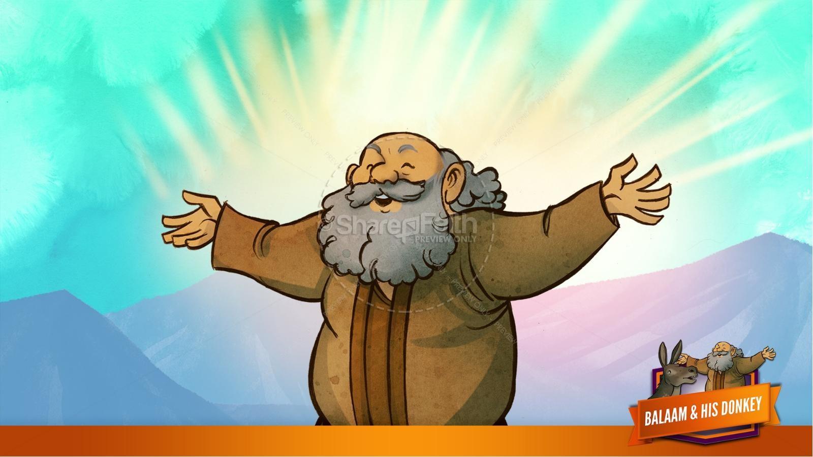Numbers 22 Balaam's Donkey Kids Bible Stories | slide 34