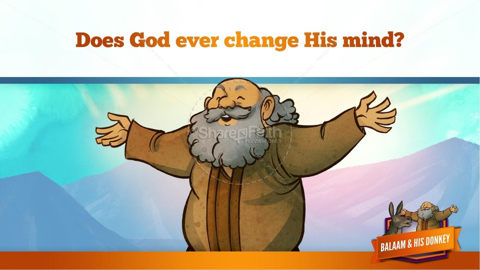 Numbers 22 Balaam's Donkey Kids Bible Stories   slide 37