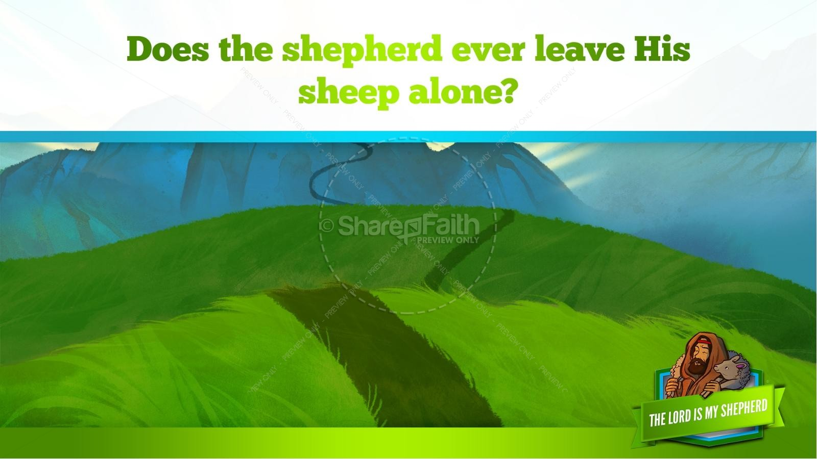 Psalm 23 The Lord Is My Shepherd Kids Bible Story | slide 31
