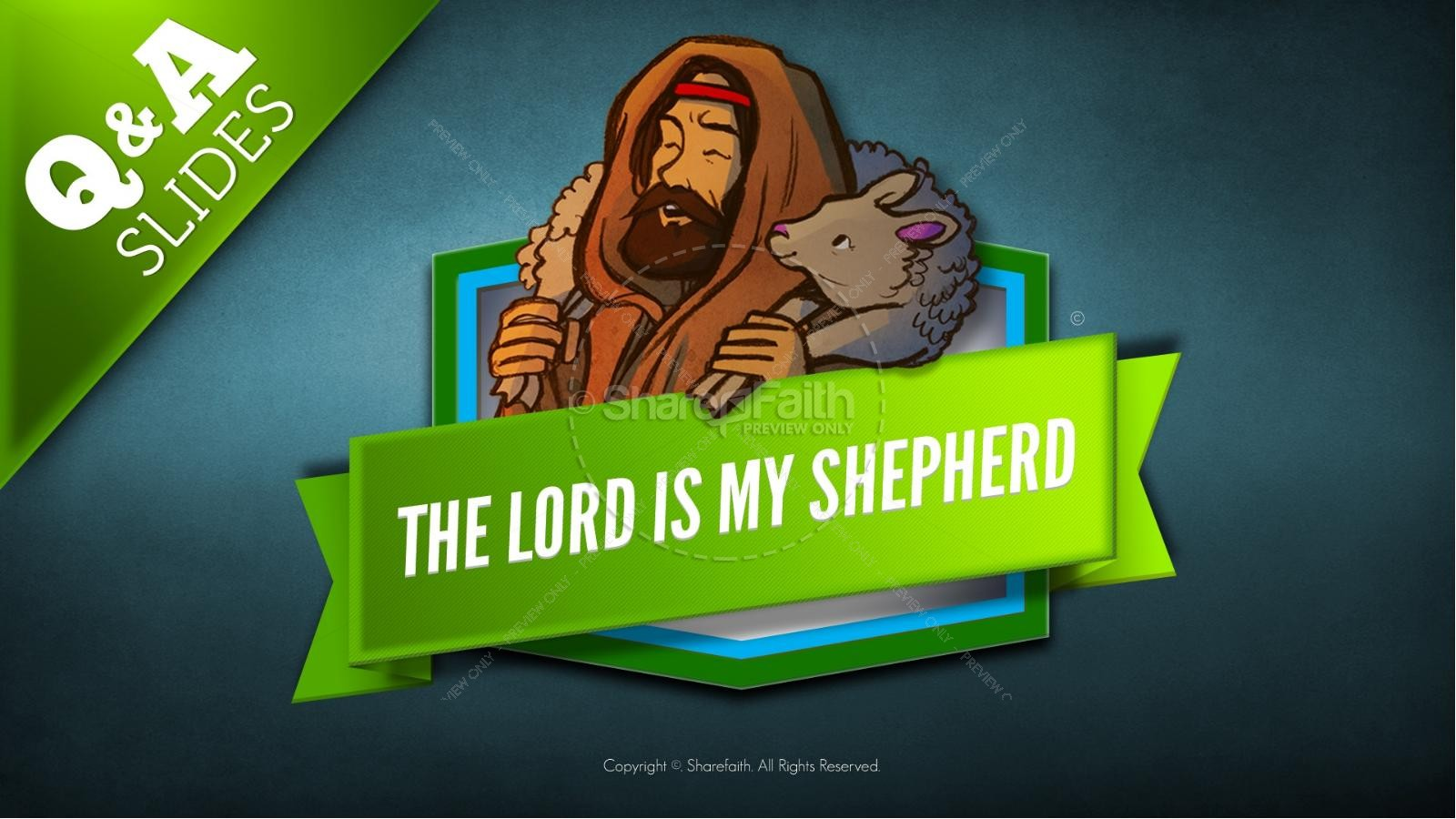Psalm 23 The Lord Is My Shepherd Kids Bible Story | slide 9