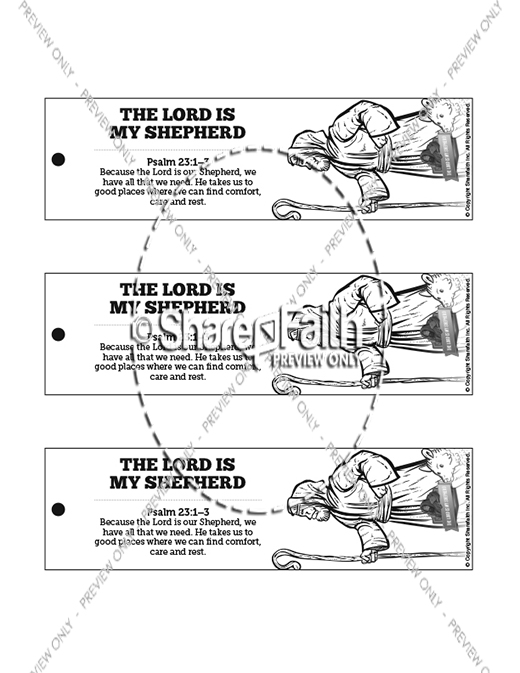 Psalm 23 The Lord Is My Shepherd Bible Bookmarks