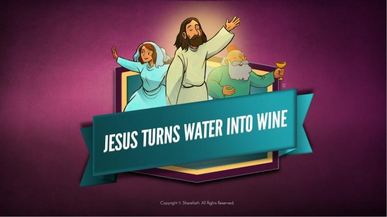 Jesus Turns Water Into Wine Kids Bible Story