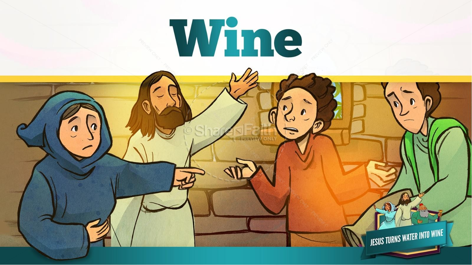 jesus turns water into wine kids bible story kids bible stories