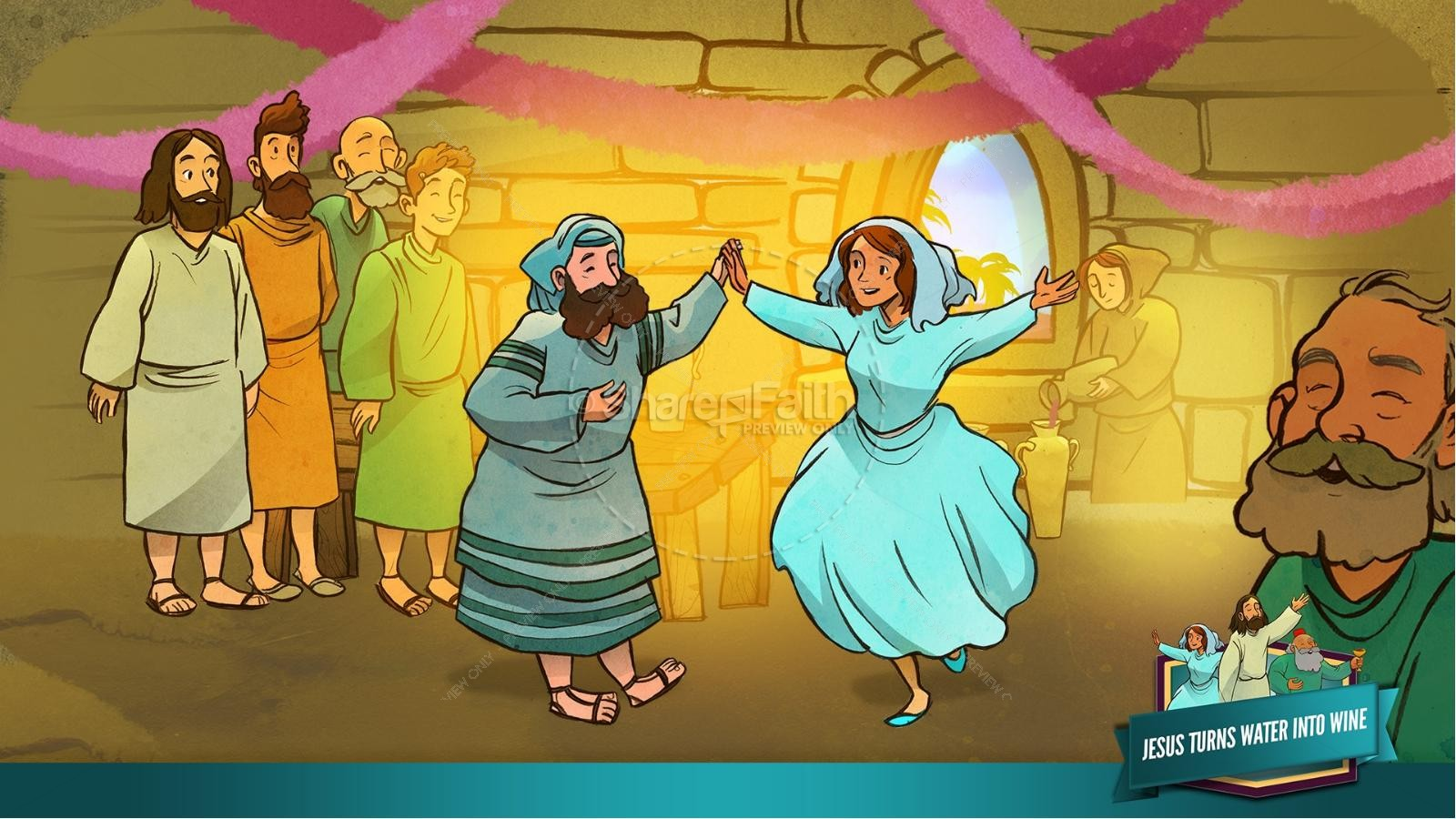 Jesus Turns Water Into Wine Kids Bible Story