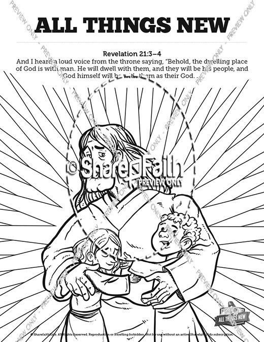 Revelation 21 All Things New Sunday School Coloring Pages | Sunday ...