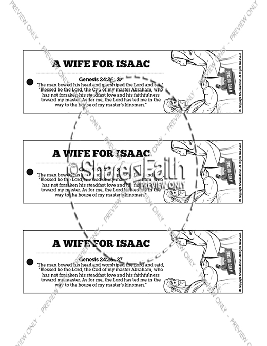 Genesis 24 Isaac and Rebekah Bible Bookmarks