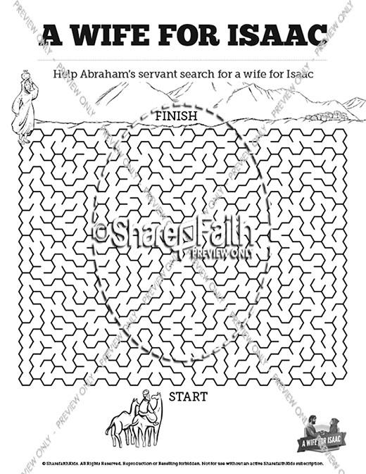 Genesis 24 Isaac and Rebekah Bible Mazes