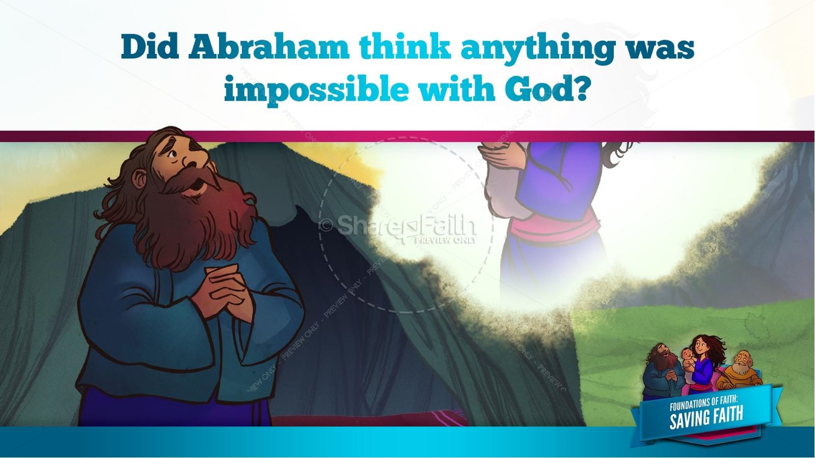 Hebrews 11 Saving Faith Kids Bible Story | slide 27