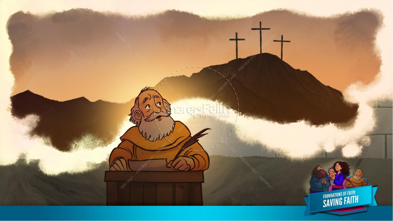 Hebrews 11 Saving Faith Kids Bible Story | slide 34