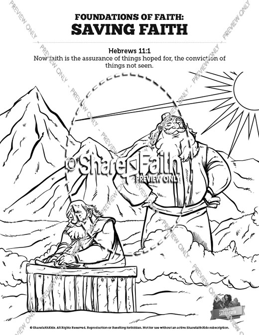hebrews 11 saving faith sunday school coloring pages - Hebrews 13 8 Coloring Page