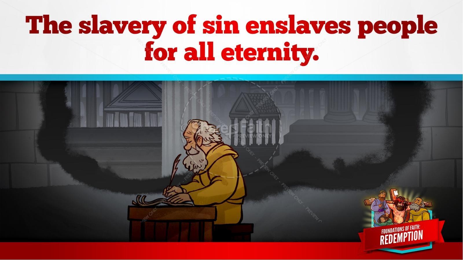 Romans 6 Redemption Kids Bible Story | slide 20