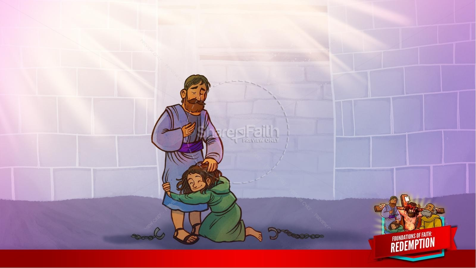 Romans 6 Redemption Kids Bible Story