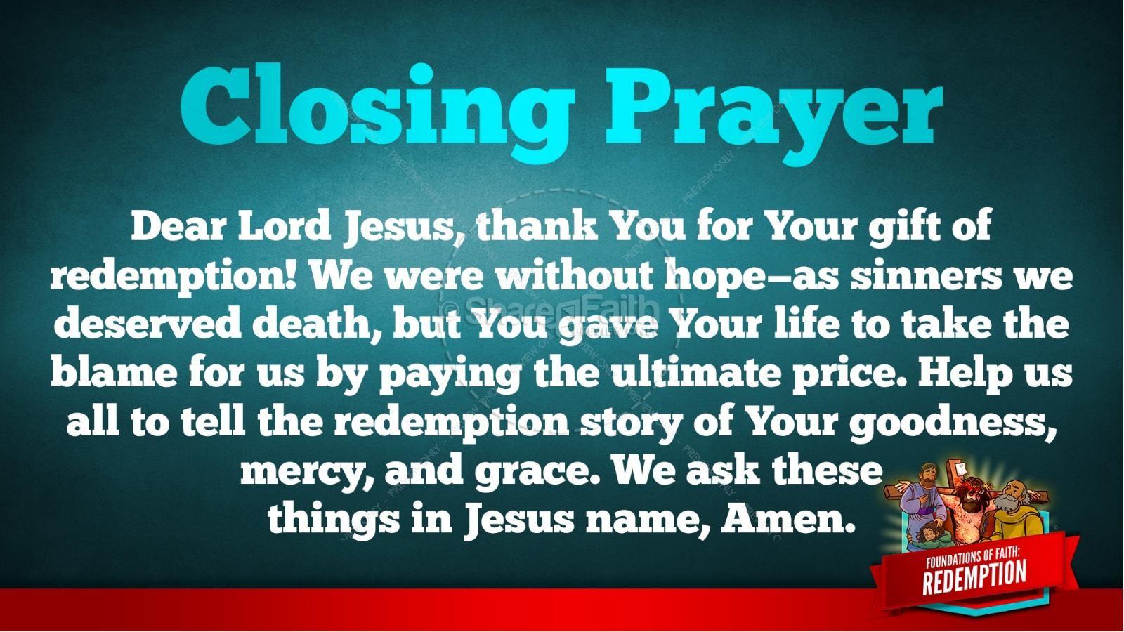 Romans 6 Redemption Kids Bible Story | slide 36