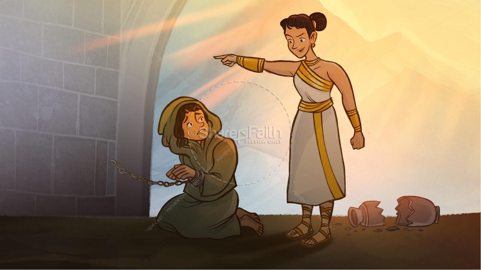 Romans 6 Redemption Kids Bible Story   slide 5