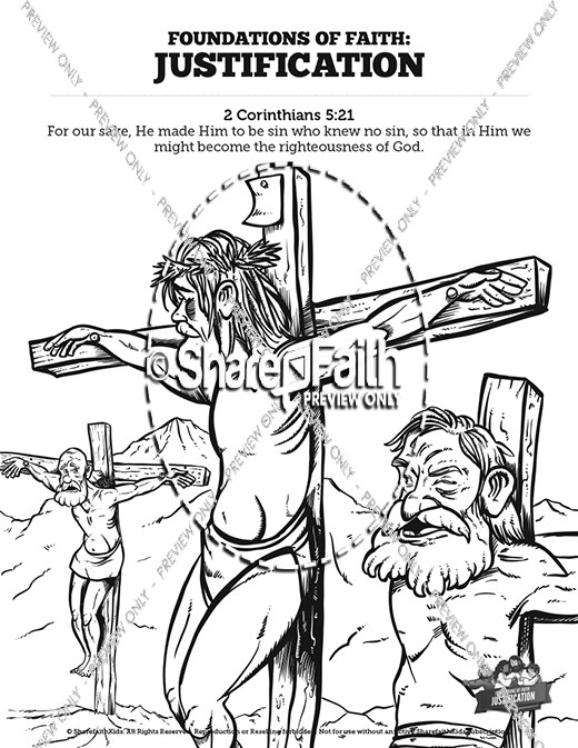 Romans 3 Justification Sunday School Coloring Pages