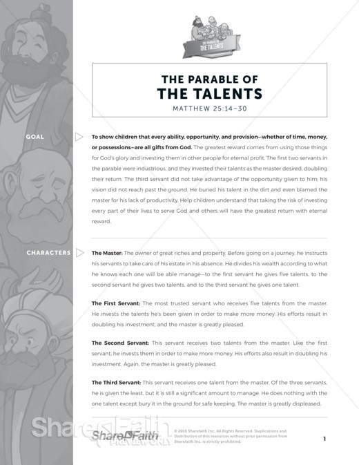 parable of the talents colouring pages - Google Search | Sunday ... | 673x520
