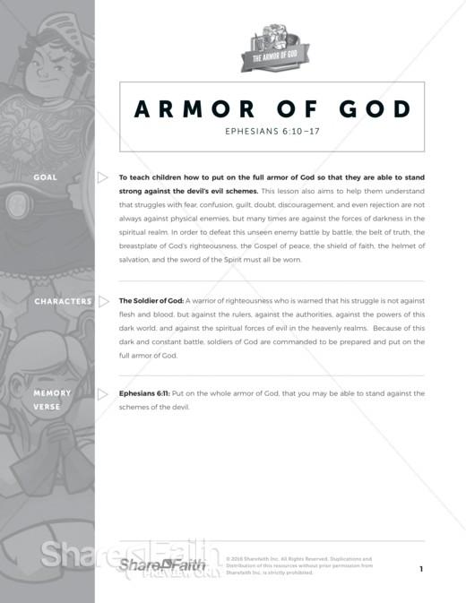photo regarding Armor of God Printable Activities known as Ephesians 6 The Armor of God Sunday University Crossword Puzzles