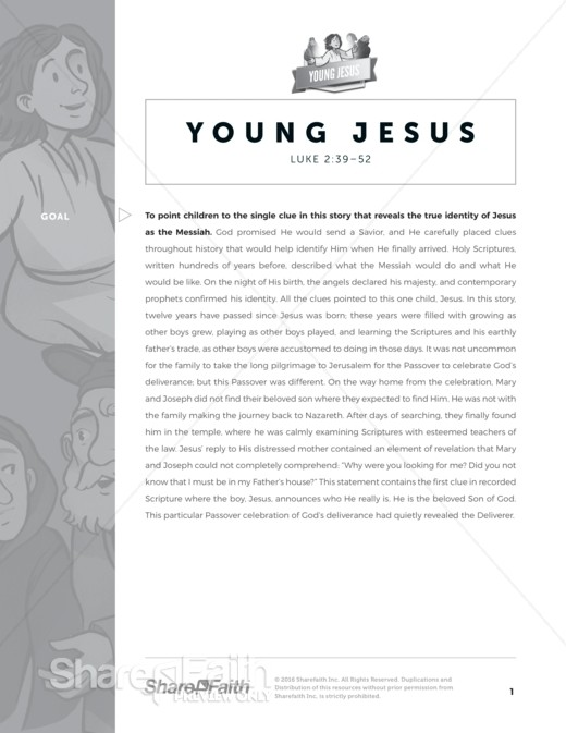 Luke 2 Jesus as a Child Sunday School Curriculum