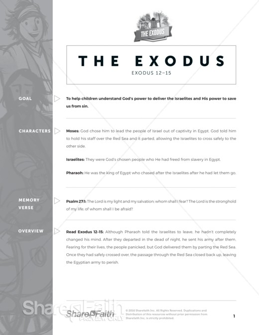 The Exodus Story Sunday School Curriculum