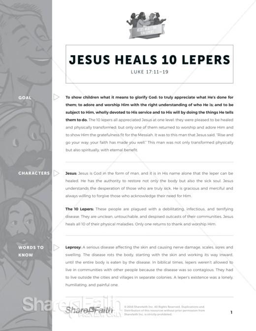 Luke 17 Ten Lepers Sunday School Curriculum