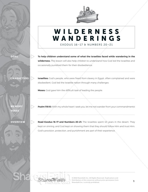 40 Years in the Wilderness Sunday School Curriculum