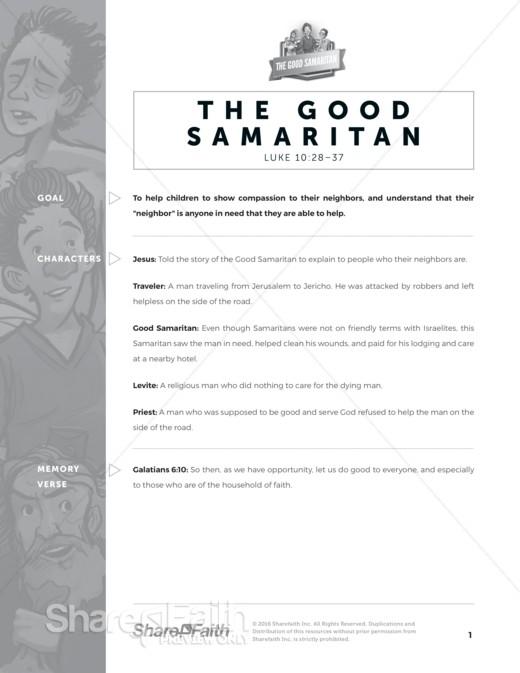 Luke 10 Good Samaritan Sunday School Curriculum