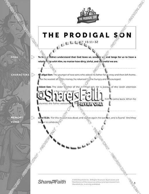 Luke 15 Prodigal Son Sunday School Curriculum