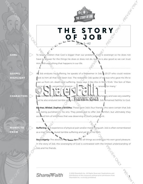 The Story of Job Sunday School Curriculum