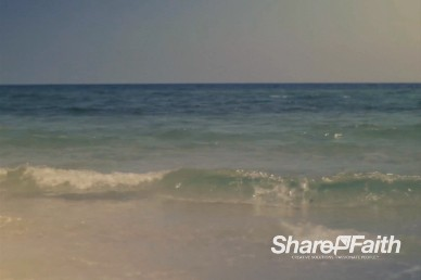Rolling Waves on the Seashore Church Video Background Loop