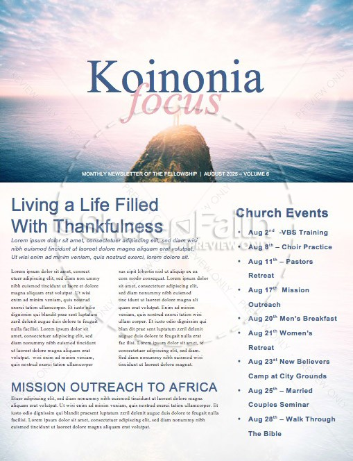 Let God Church Newsletter Template | page 1