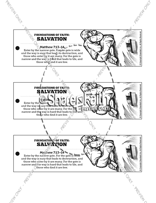 Matthew 7 Plan of Salvation Bible Bookmarks