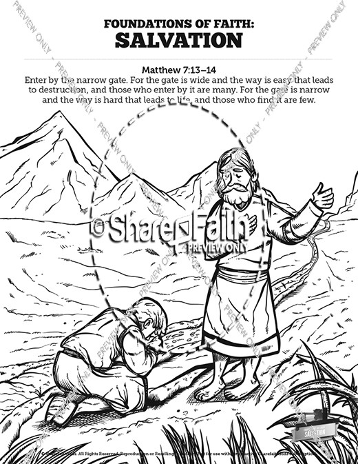 matthew 7 plan of salvation sunday school coloring pages - Hebrews 13 8 Coloring Page