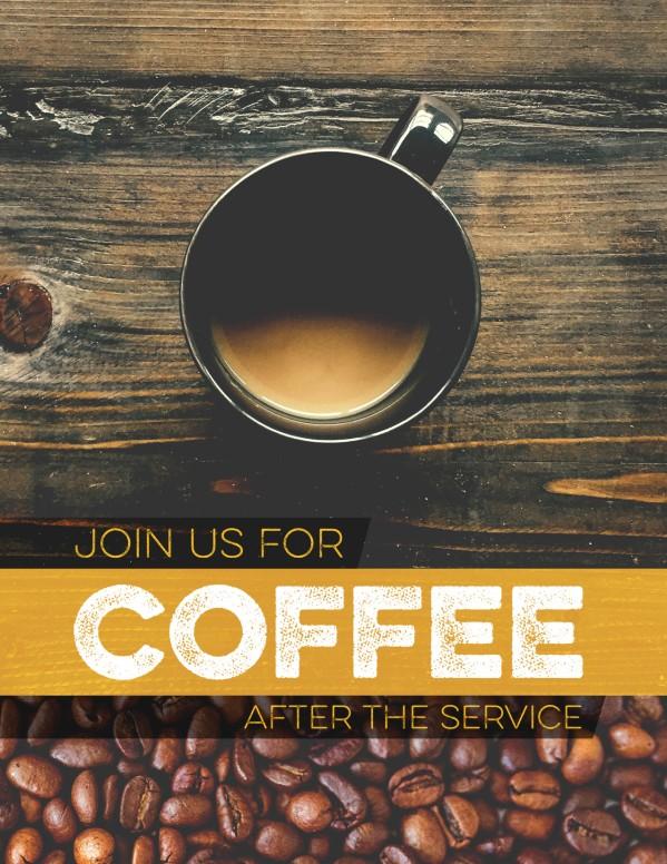Coffee Shop Ministry Church Flyer