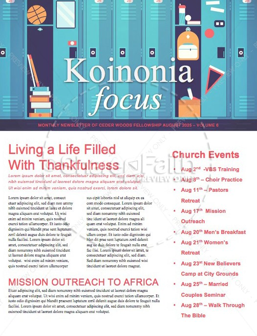 Get Ready for Back to School Church Newsletter Template