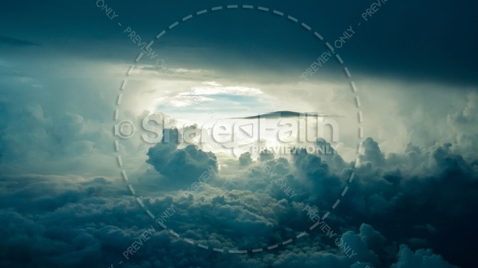 Eye of the Storm Christian Stock Photo