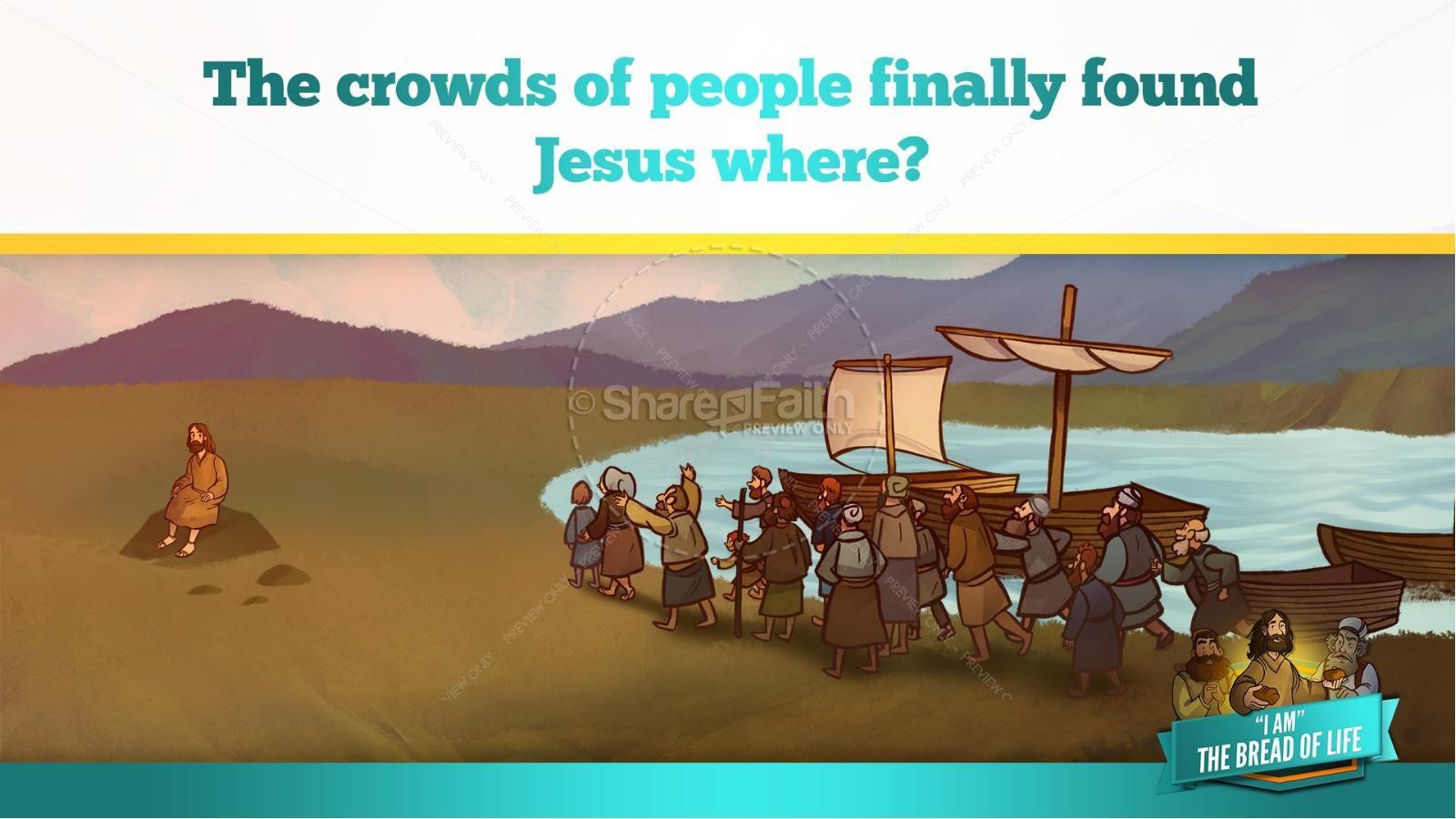 John 6 Bread of Life Kids Bible Stories   slide 11