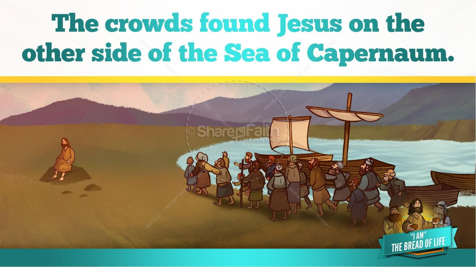 John 6 Bread of Life Kids Bible Stories | slide 12