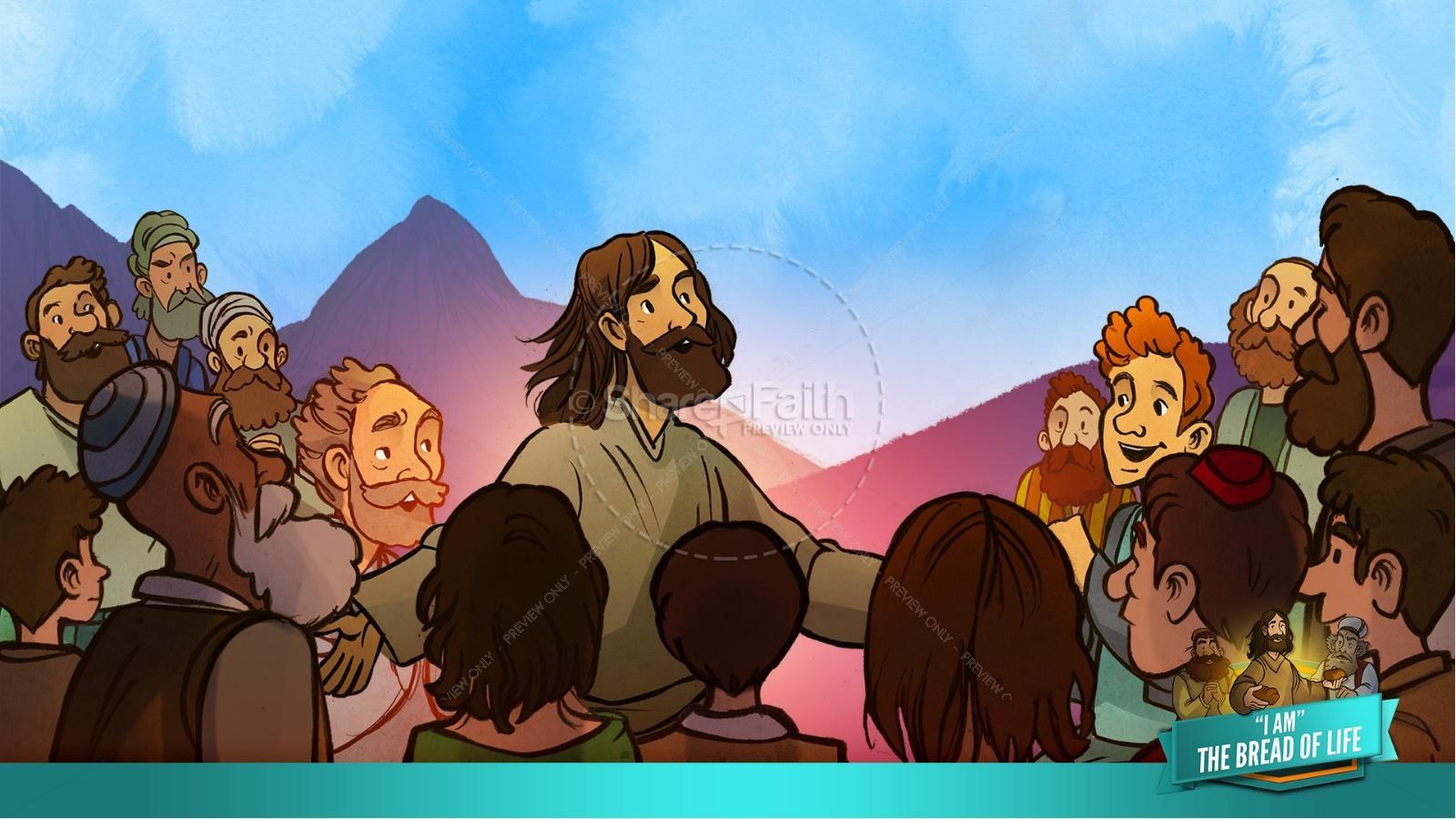 John 6 Bread of Life Kids Bible Stories | slide 14
