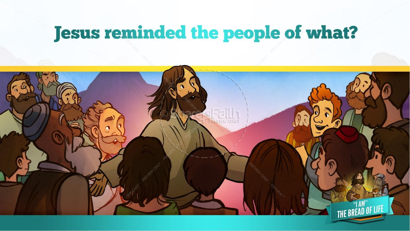 John 6 Bread of Life Kids Bible Stories   slide 15