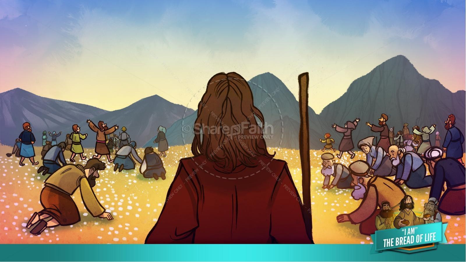 John 6 Bread of Life Kids Bible Stories | slide 26