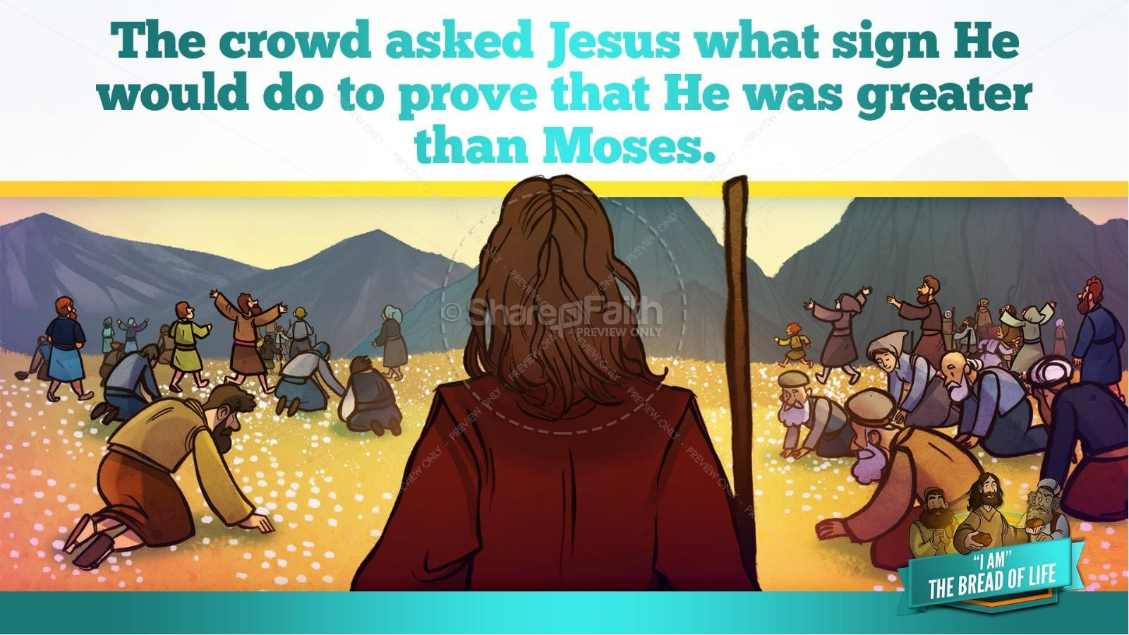 John 6 Bread of Life Kids Bible Stories | slide 28