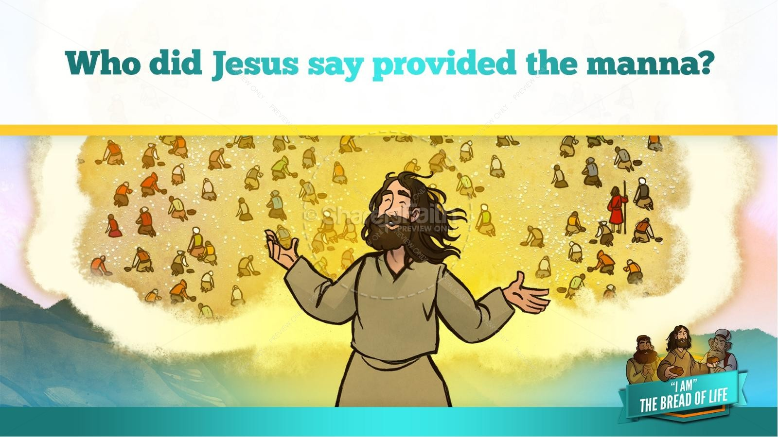 John 6 Bread of Life Kids Bible Stories | slide 31