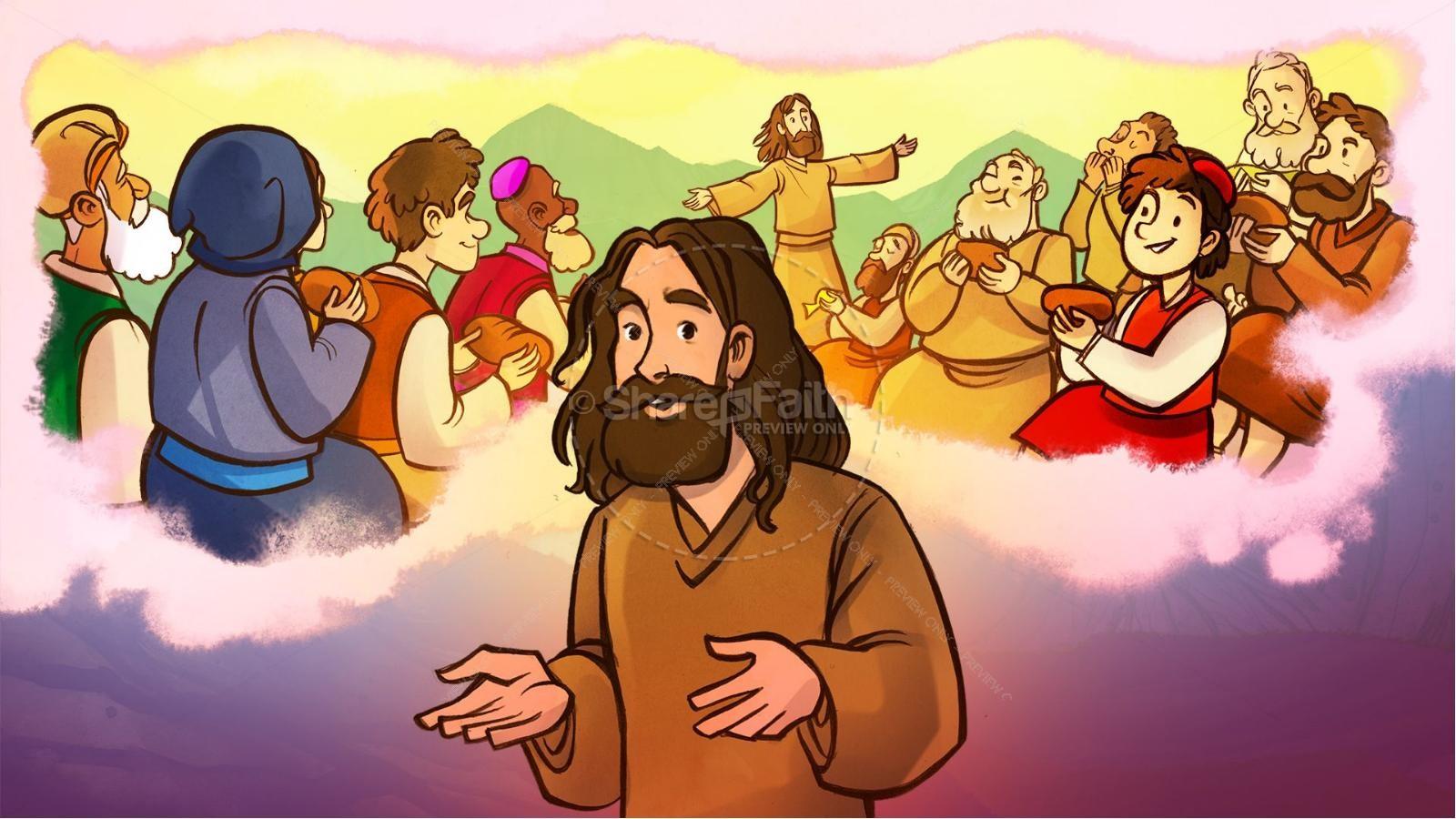 John 6 Bread of Life Kids Bible Stories   slide 4